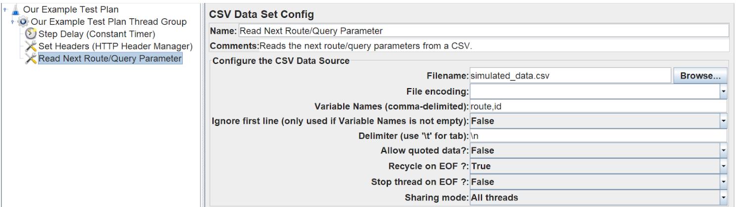 Defining CSV import