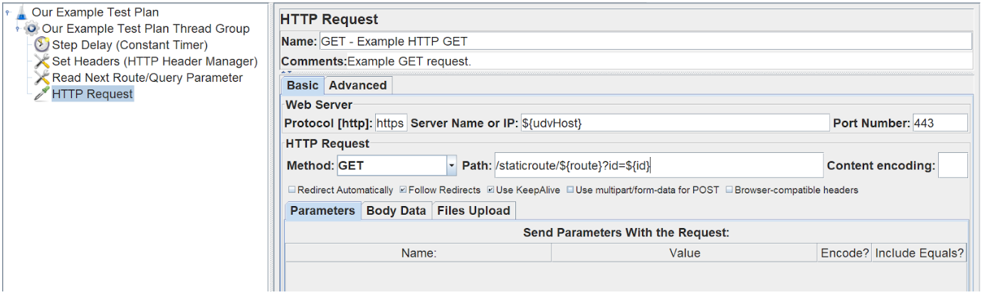 Defining a HTTP request