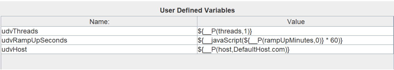 Defining user variables